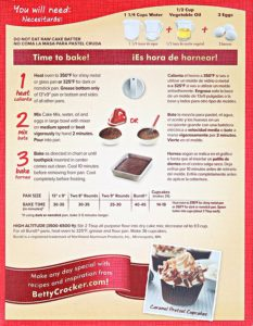 Betty Crocker Super Moist Chocolate Fudge Cake Mix